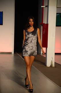 Gray short dress - Intermoda Trends