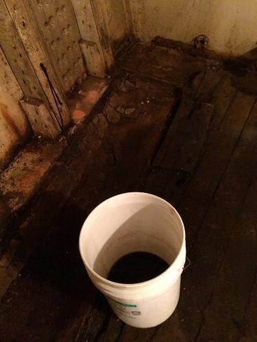 dark water in bucket