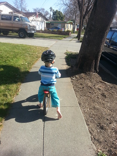 biking around the block by marymactavish