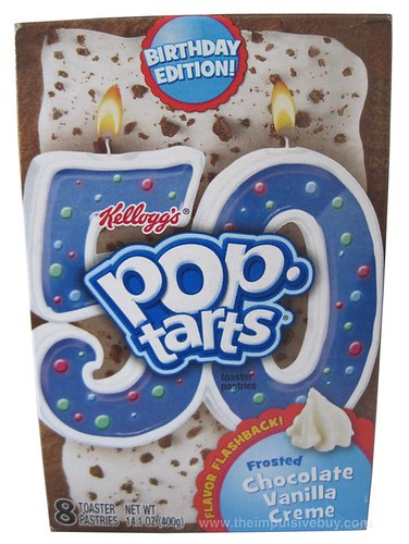 Kellogg's Birthday Edition Flavor Flashback Frosted Chocolate Vanilla Creme Pop-Tarts
