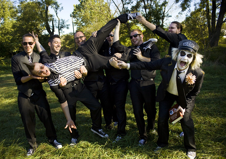 groomsmen and beetlejuice