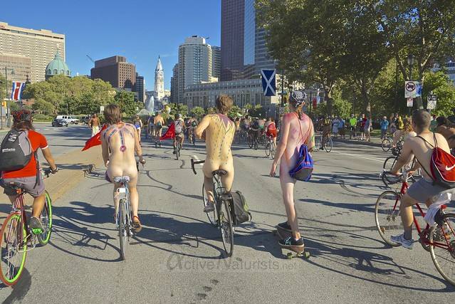 naturist 0063 Philly Naked Bike Ride, Philadelphia, PA USA