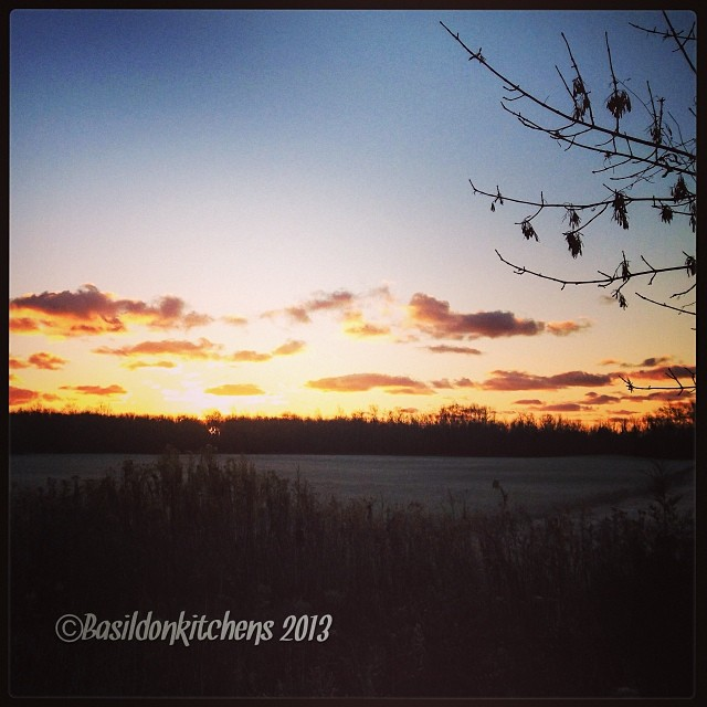 Nov 4 - earth {this morning's sunrise; Good morning, Mother Earth!} #photoaday #sunrise #frosty #earth #princeedwardcounty