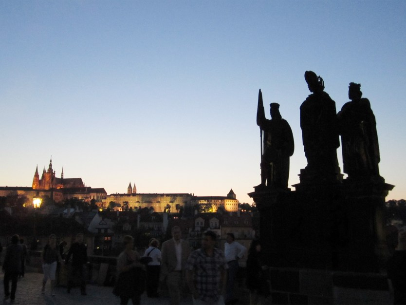 Statues on Charles Bridge, Prague.