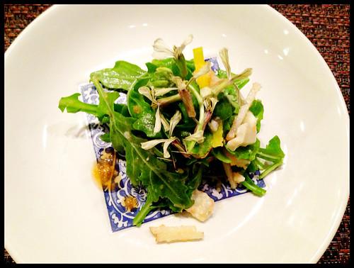 Arugula Salad w/ Lobster, Blue Cheese, Asian Pear, & Beet