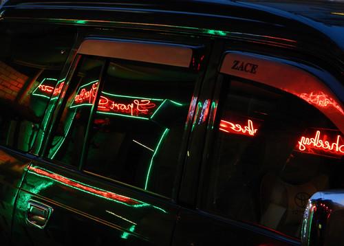 Neon Reflections in Saigon