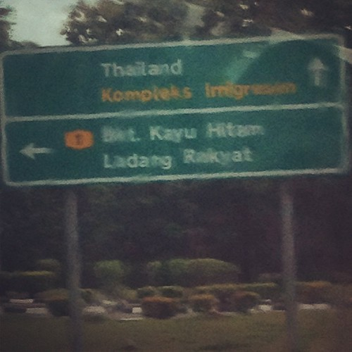 Thailand ⬆! (Through dirty bus window).
