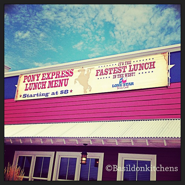 Aug 13 - fast {fastest lunch in town} #fmsphotoaday #fast #lonestarrestaurant #lunch
