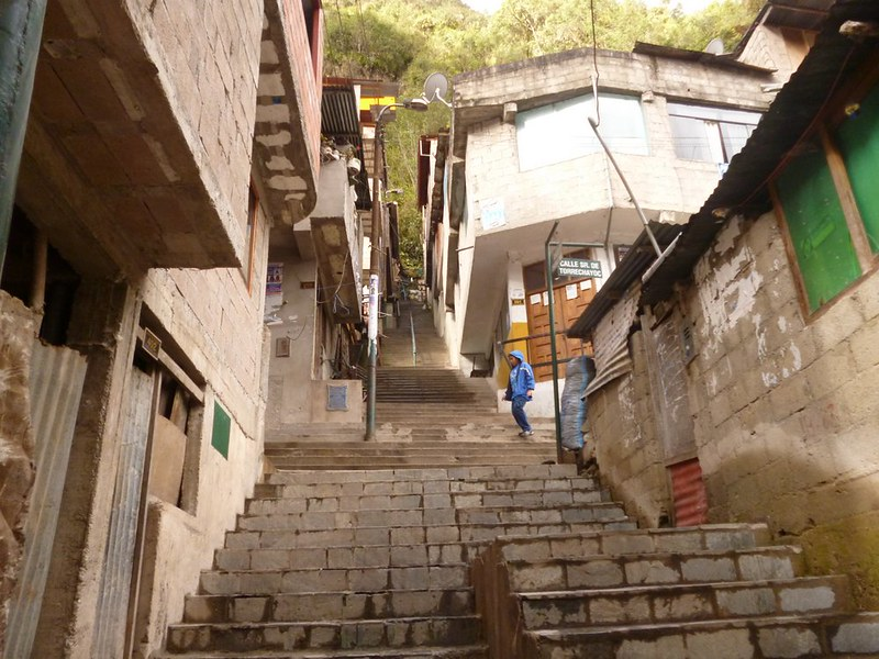 Empty staircase in Aguas Calientes