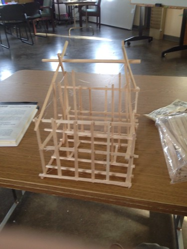 Thirty days of making: model house frame