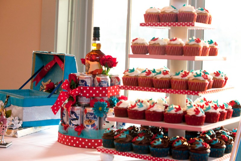 "Lots of Cupcakes and the ""Groom's Cake"""