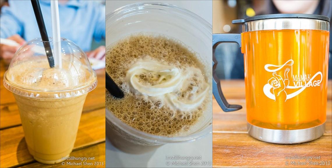 Ice cream float & peanut milkshake & free tumbler mamak village
