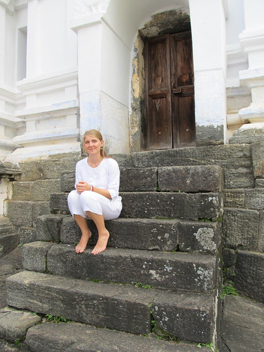 Outside a temple in Kandy