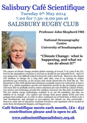 Poster for Professor John Shepherd FRS