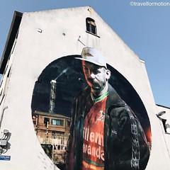 #streetart #art #vsco #vscocam #thecrystalship #ostend #visitoostende #oostende #wall #belgium #igbelgium #visitflanders #blue #sky #face #kvoostende #wanderlust #travelgram #travel #guardiancities #guardiantravelsnaps