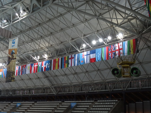 Our flag among friends at BCN2013
