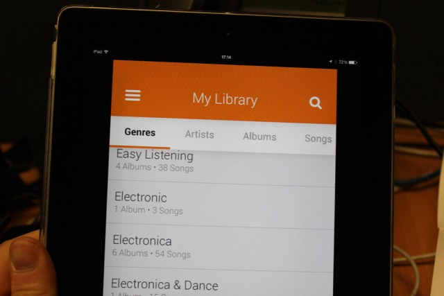 Google Play Music on iOS