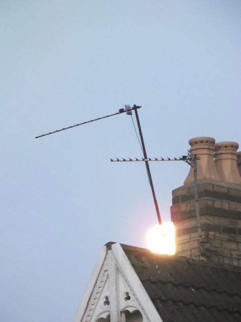 'Supermoon' over Pontcanna, Cardiff.
