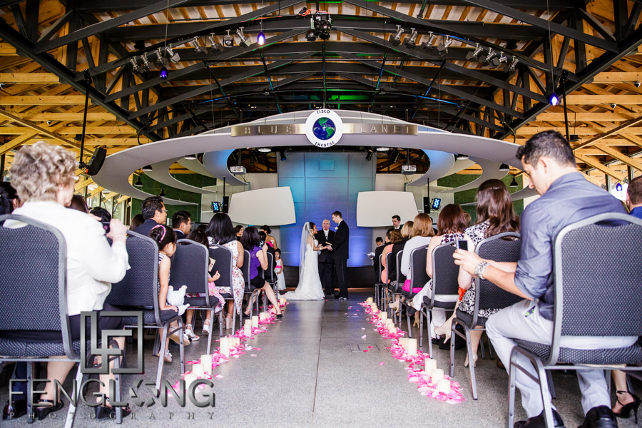 Multicultural wedding ceremony at the Gwinnett Environmental Heritage Center