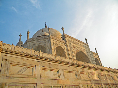white marble walls of the Taj Mahal