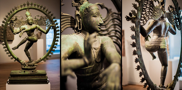 Shiva, surrounded by a ring of fire, Solid Bronze, at the Rijksmuseum