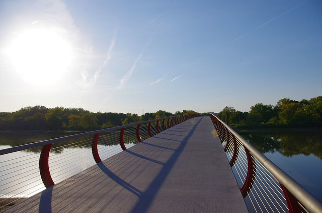 Pedestrian Bridge to Credit Island (in the Mississippi River), Davenport, Iowa, September 25, 2012