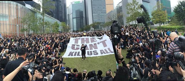 新聞界企硬·反暴力·默站行動(香港記者協會提供圖片)