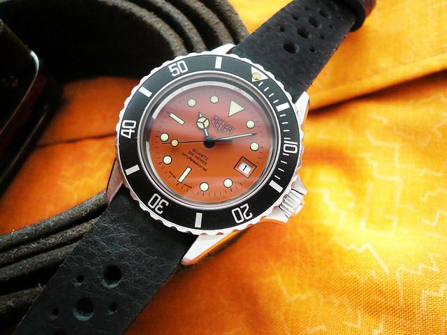 Heuer dive watches heuerville - Orange dive watch ...