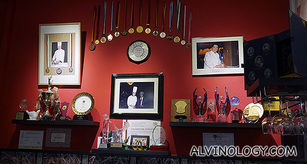 Some of Chef Teo's various award wins and trophies