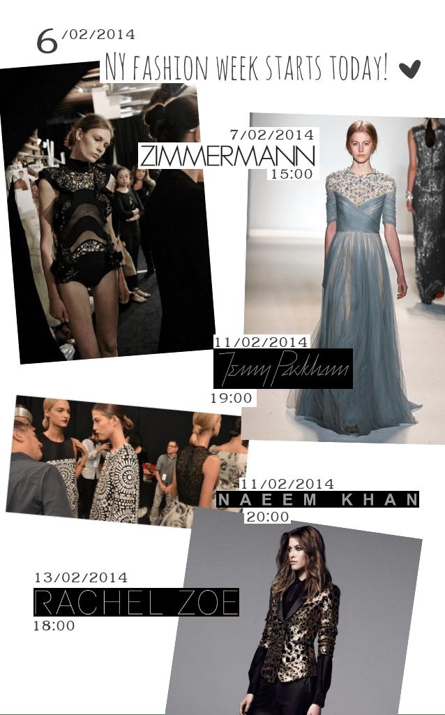 NYC fashion week 2014