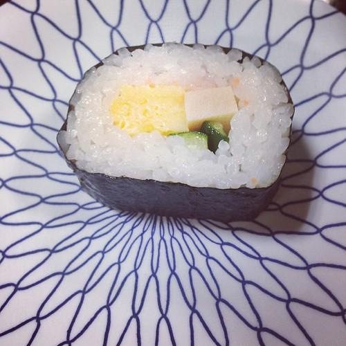 かわいい巻き寿司。 ひんやりしてて美味しかった。
