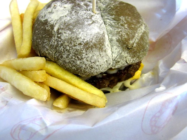 Beef with cheese burger
