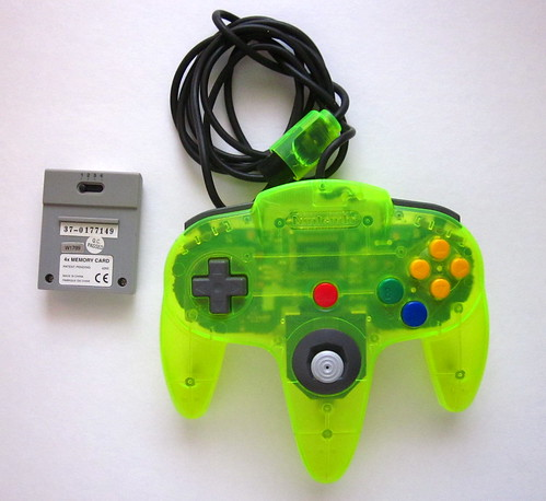 extreme green N64 controller