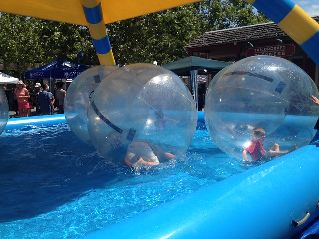 Kids in self-contained balloon balls