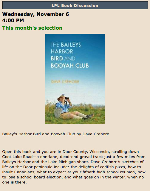 Bailey's Harbor Bird and Booyah Club