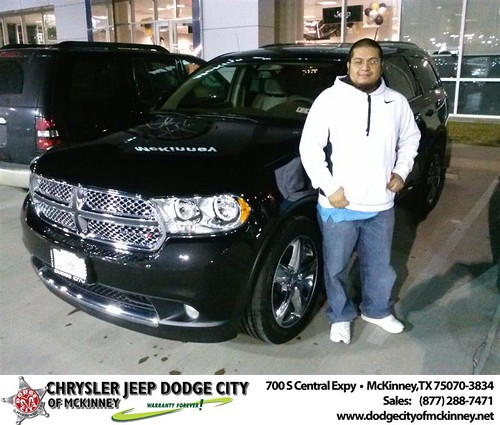 Thank you to Francisco Aguilar on your new 2013 #Dodge #Durango from David Walls and everyone at Dodge City of McKinney! #NewCarSmell by Dodge City McKinney Texas