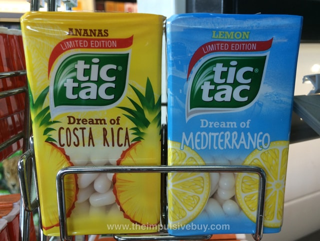 Tic Tac Limited Edition Dream of Mediterraneo and Dream of Costa Rica