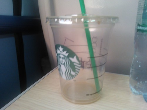 #0022 The remains of a triple caramel frappucino