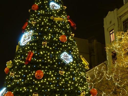 Árbol de Navidad en Praga (Plaza de Wenceslao)
