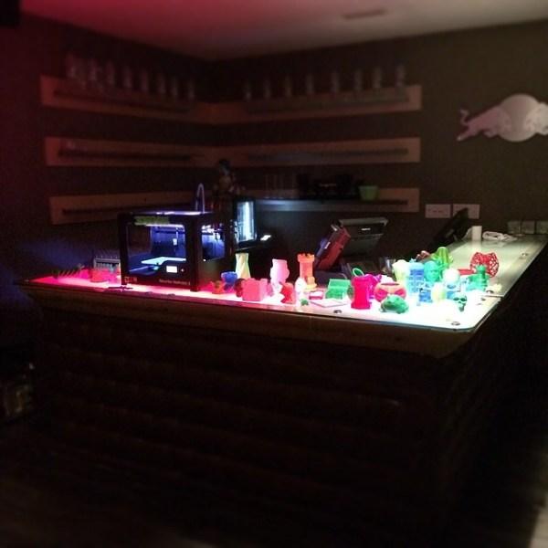 The #3dprinting bar upstairs at #bil2014