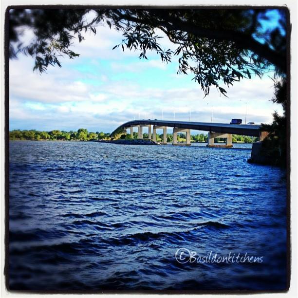 July 24 - trip {I make the trip over the Bay Bridge twice a day} #photoaday #bridge #trip #bayofquinte #baybridge #belleville #princeedwardcounty #titlefx
