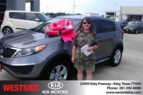 Thank you to Carol Jackson on the 2013 Kia Sportage from Orlando Baez and everyone at Westside Kia! by Westside KIA