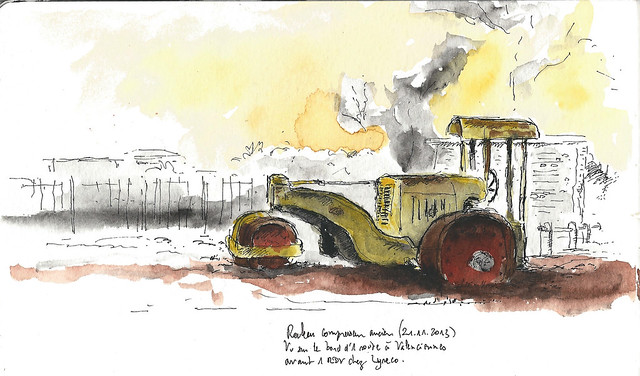 Old Steamroller near Valenciennes