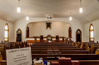 Liberty Springs Presbyterian Church Interior