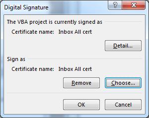 จะเห็นว่า Sign as นั้นมีตัว Certificate ขึ้นมาแล้ว ... กด OK ก็เรียบร้อย