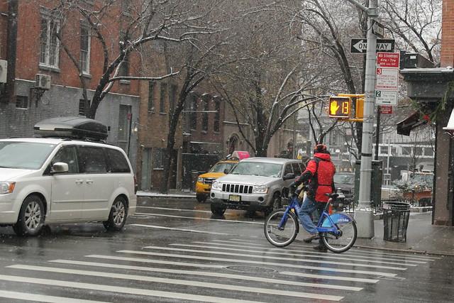 Citibike. Snowstorm.