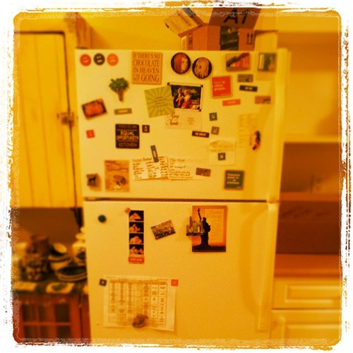 Fridge has been magnet-ed! Can't wait to hear what the Ogre thinks. ;) #KatjesMove