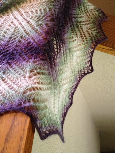 Finished Mystery Shawl 1
