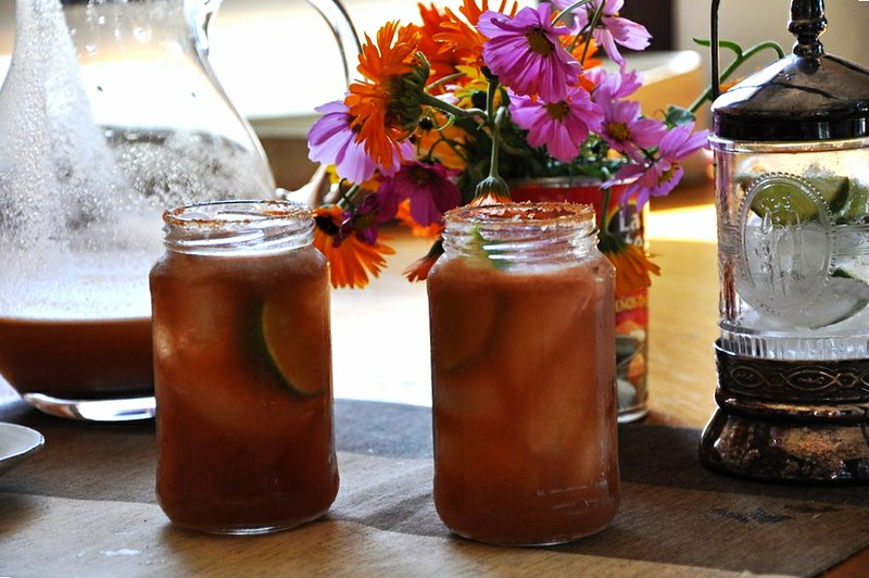 Fresh Tomato Micheladas with Tamarind