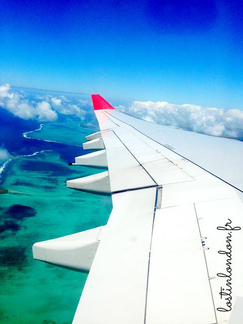l'île maurice vue d'en haut